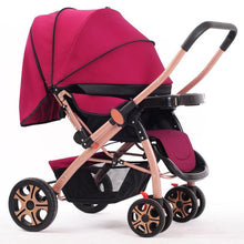 Load image into Gallery viewer, High Landscope Baby Stroller Folding Four-Wheel Infant Car Safety Baby Cradle Carriage Pram Buggy for Travelling bebek arabasi