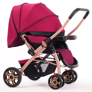 High Landscope Baby Stroller Folding Four-Wheel Infant Car Safety Baby Cradle Carriage Pram Buggy for Travelling bebek arabasi