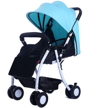 Load image into Gallery viewer, Super Light Folding High Landscape Baby Strollers Umbrella Car Pushchair,Newborn Width Sleeping Basket Pram Buggy for Travelling