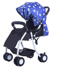 Load image into Gallery viewer, 567 Super Light Folding High Landscape Baby Strollers Umbrella Car Pushchair,Newborn Width Sleeping Basket Pram Buggy for Travelling