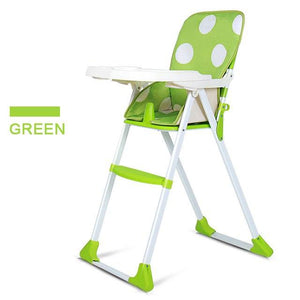 Parent Portable Dining Feeding Chair For Infant Kids Folding Baby High Chair Durable Health Plastic Highchair For 4-48M Cadeira