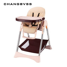 Load image into Gallery viewer, New Simple Portable Baby Feeding Chair With Safty Belt 57*82*110cm Plastic Baby High Chair Adjustable Anti-Slip Highchair