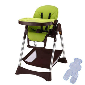 New Simple Portable Baby Feeding Chair With Safty Belt 57*82*110cm Plastic Baby High Chair Adjustable Anti-Slip Highchair