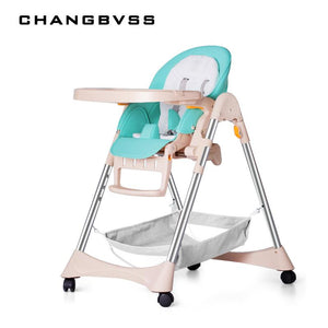 Multifunctional Baby Feeding Table Chair Seat Portable Folding Can Sit Lying Stable Safety Support Baby High Chair Dinner Lunch