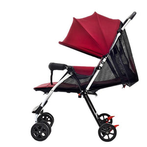 New Summer Super Breathable Baby Stroller Urltra-Light Portable Folding Baby Prams Pushchair Can Sit & Lie Infant Umbrella Cart