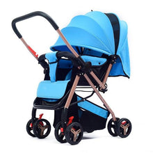 Load image into Gallery viewer, High Quality Baby Stroller High Landscape Folding Baby Trolley Portable Width Sleeping Basket Baby Car for Newborn Pram carrinho