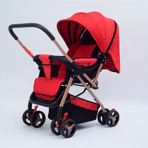 High Quality Baby Stroller High Landscape Folding Baby Trolley Portable Width Sleeping Basket Baby Car for Newborn Pram carrinho
