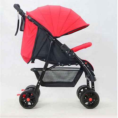 Four-Wheel Baby Stroller Folding Light Portable Baby Carriage carrinho High Landscape Sit & Lie Baby Pram Pushchair Bebek Arabas