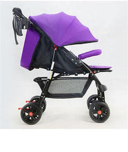Load image into Gallery viewer, Four-Wheel Baby Stroller Folding Light Portable Baby Carriage carrinho High Landscape Sit & Lie Baby Pram Pushchair Bebek Arabas