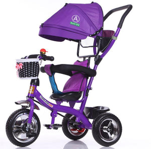 children tricycle and stroller