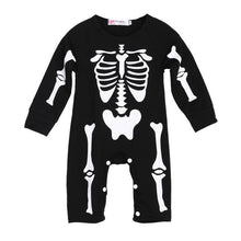 Load image into Gallery viewer, ute Halloween clothes Kids Boys Girls Warm Infant Cool Human Skeleton Long Sheeve Jumpsuit Cotton Festival party Costume