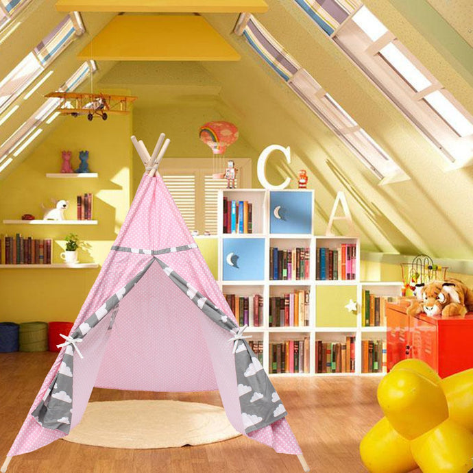 Indian Play Tent Pink Teepee Children Playhouse