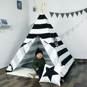 Indian Play Tent Stripe Teepee Children Playhouse