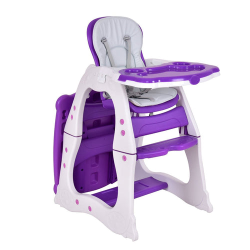 Purple Costway 3 in 1 Baby High Chair