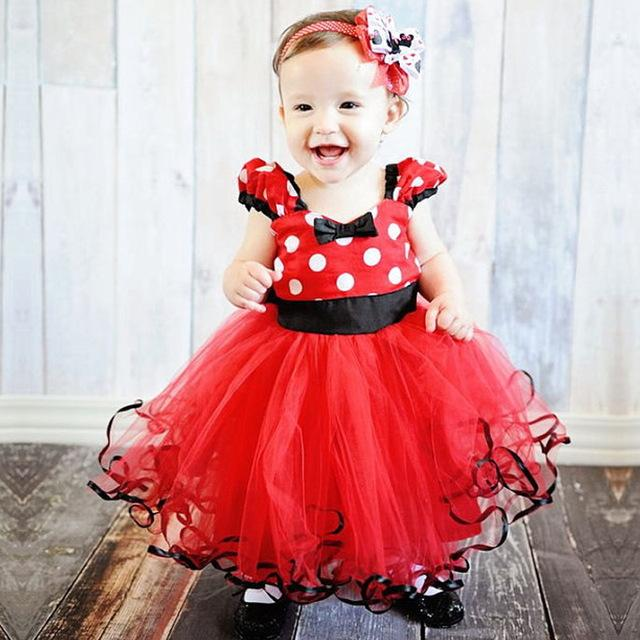 Newborn Baby ChristmasDress For Girl First Birthday One Dress Infant Party Baby Dresses For Baptism Bebes 9 12 18 24 Months