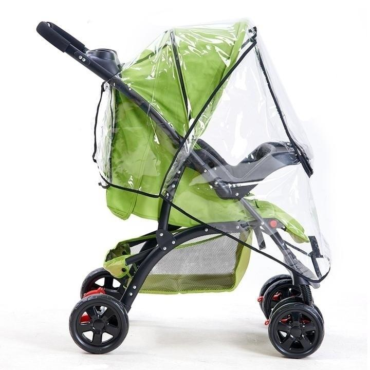 Practical For Buggy Pushchair Raincover Outdoor Stroller Rain Cover