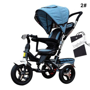 Tricycle Bicycle Child Tricycle Baby Bicycle BB Trolley Bicycle Pneumatic Tire Rotary Seat Tricycles For Children Baby Stroller