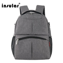 Load image into Gallery viewer, INSULAR Mummy Diaper Backpack Fashionable Large Capacity Mother Bag Multifunctional Travel Baby Backpack bag Nappy Bags
