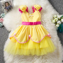 Load image into Gallery viewer, Halloween Costume Princess Girl Belle Dress Fancy Tutu Cinderella Dress Up Baby Kids Party Dresses For Girls Children Clothing