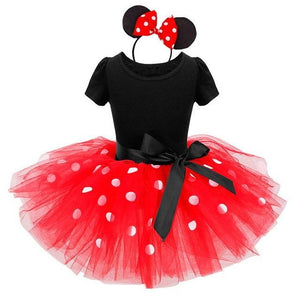Newborn Baby Girl Dress Fancy Halloween Mouse Dots Costume 1 Year Birthday Outfit Little Girls Dresses Party Wear Free Headband