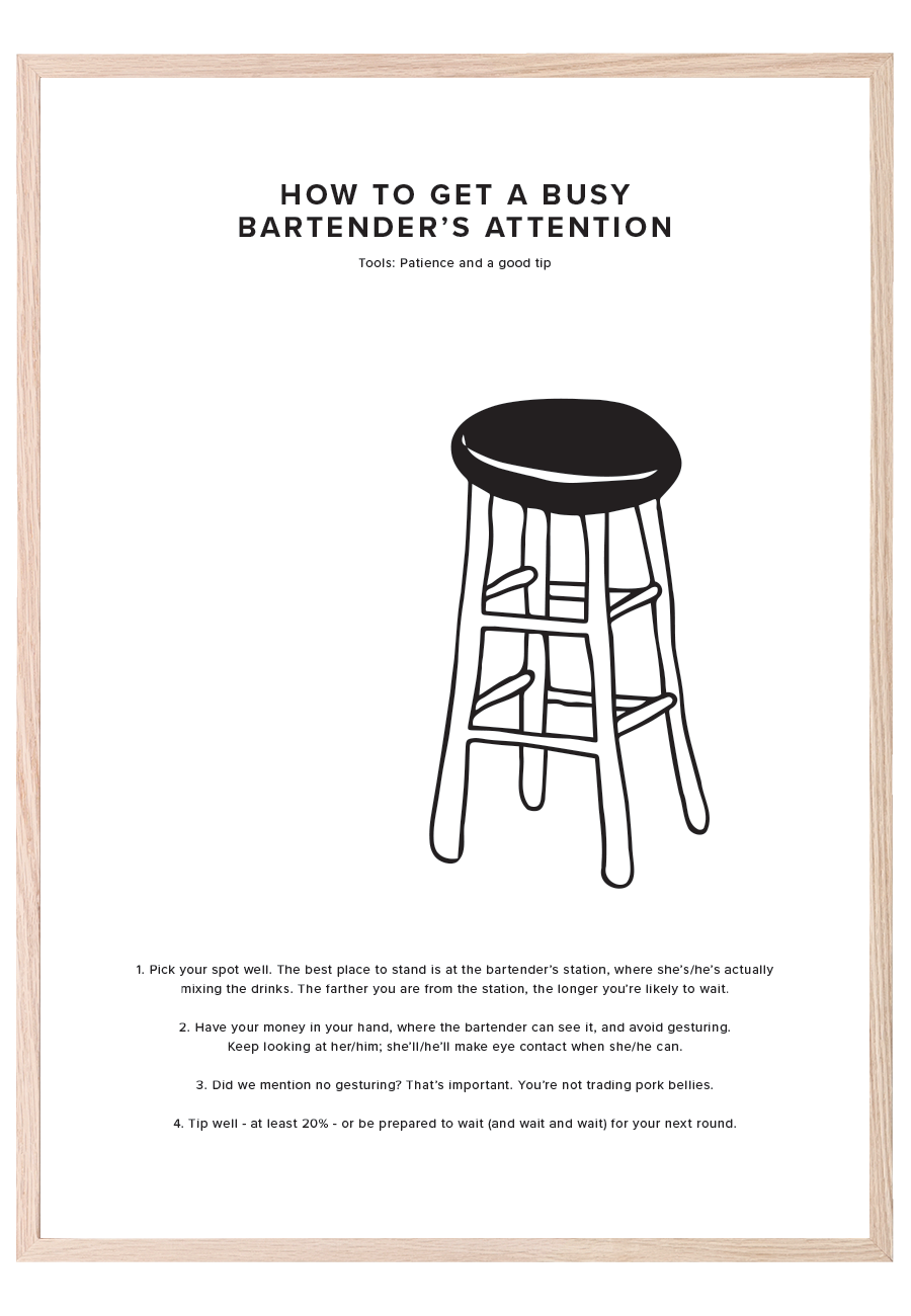 HOW TO GET A BUSY BARTENDER'S ATTENTION