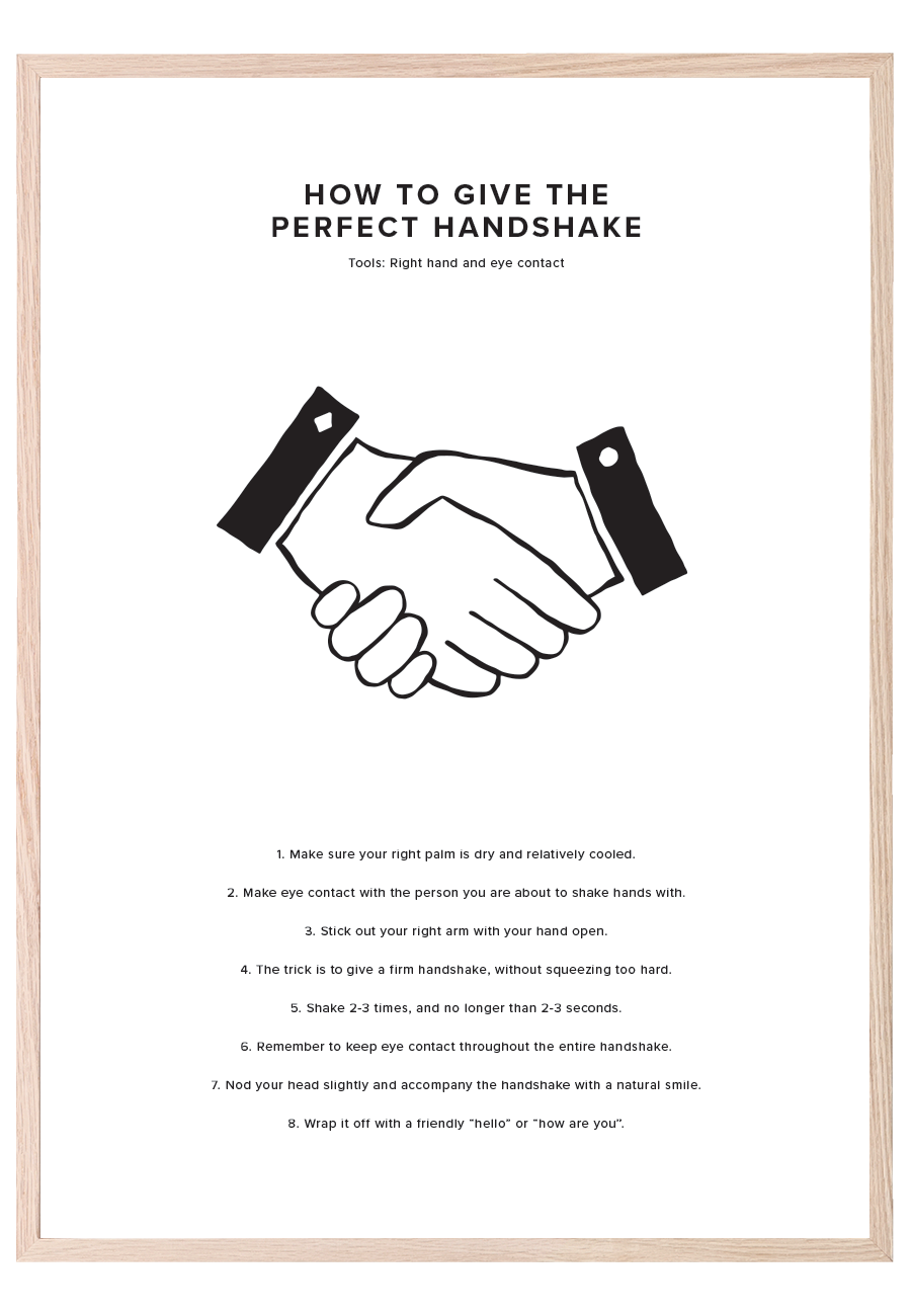 HOW TO GIVE THE PERFECT HANDSHAKE