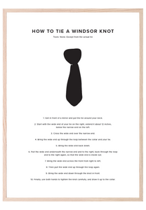 HOW TO TIE A WINDSOR KNOT