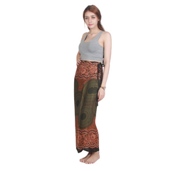 Boho Chic Thai Print Wrap Beach Skirt