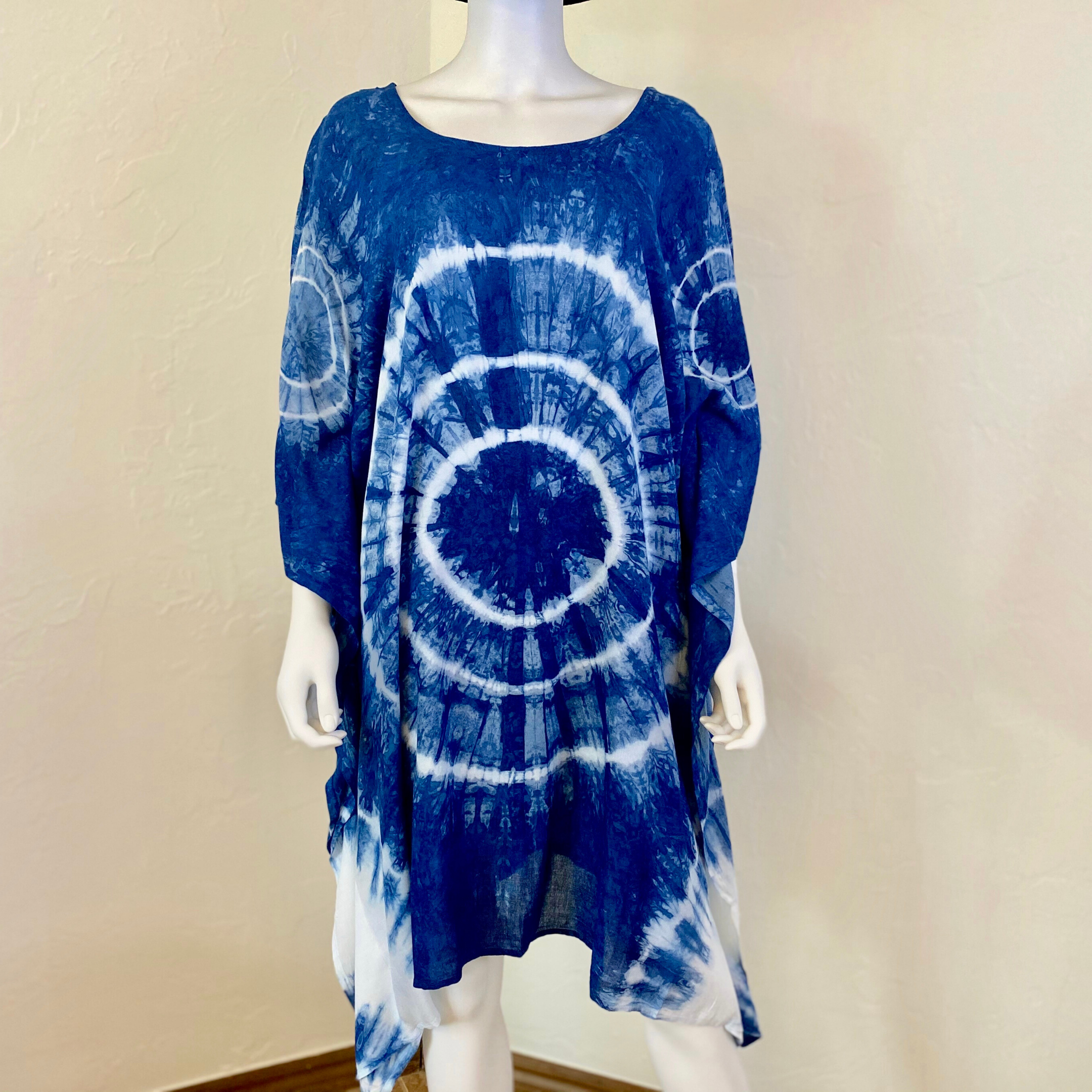 Indigo Tie Dye Kaftan Dress