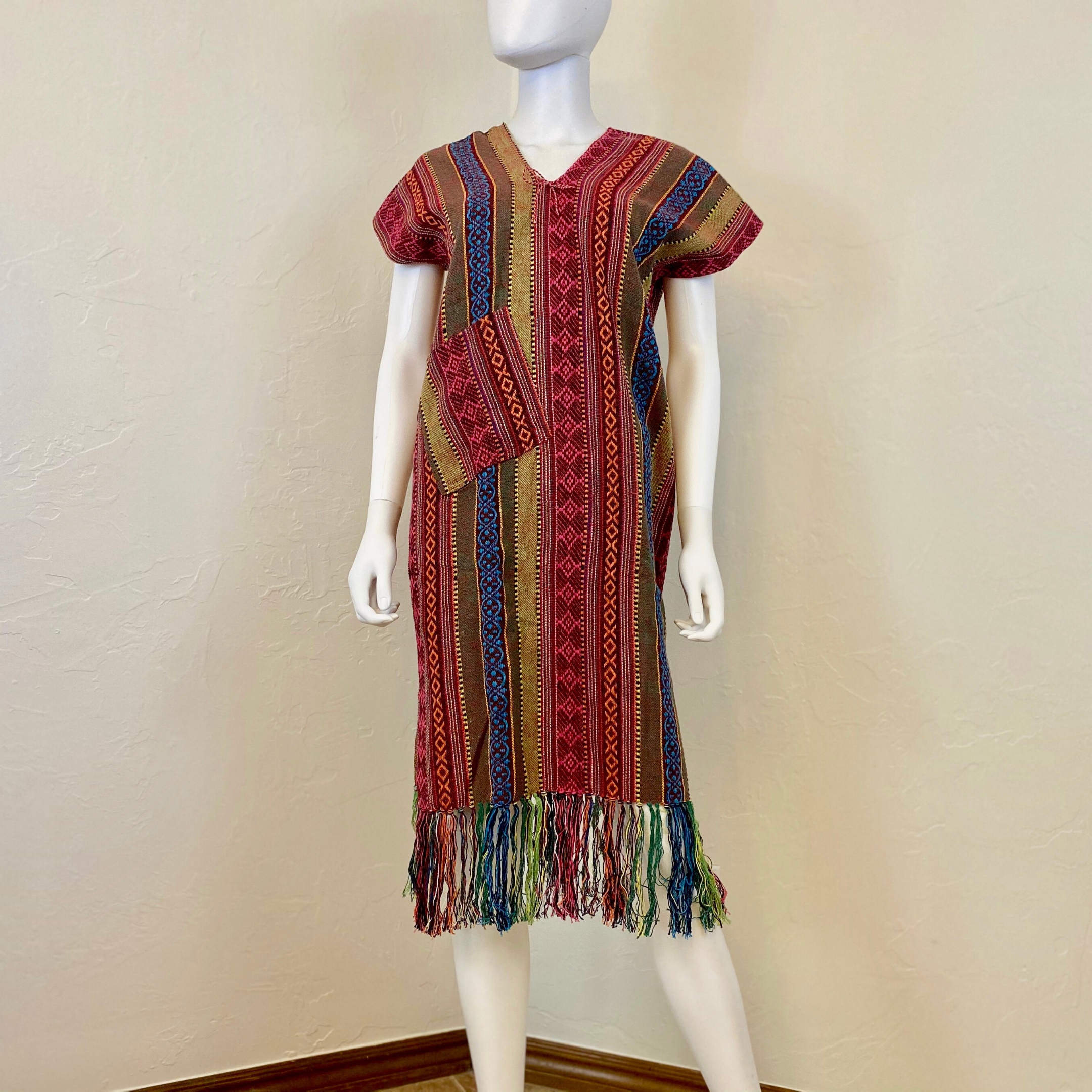 Handmade Thai Hill Tribe Handwoven Dress T01004