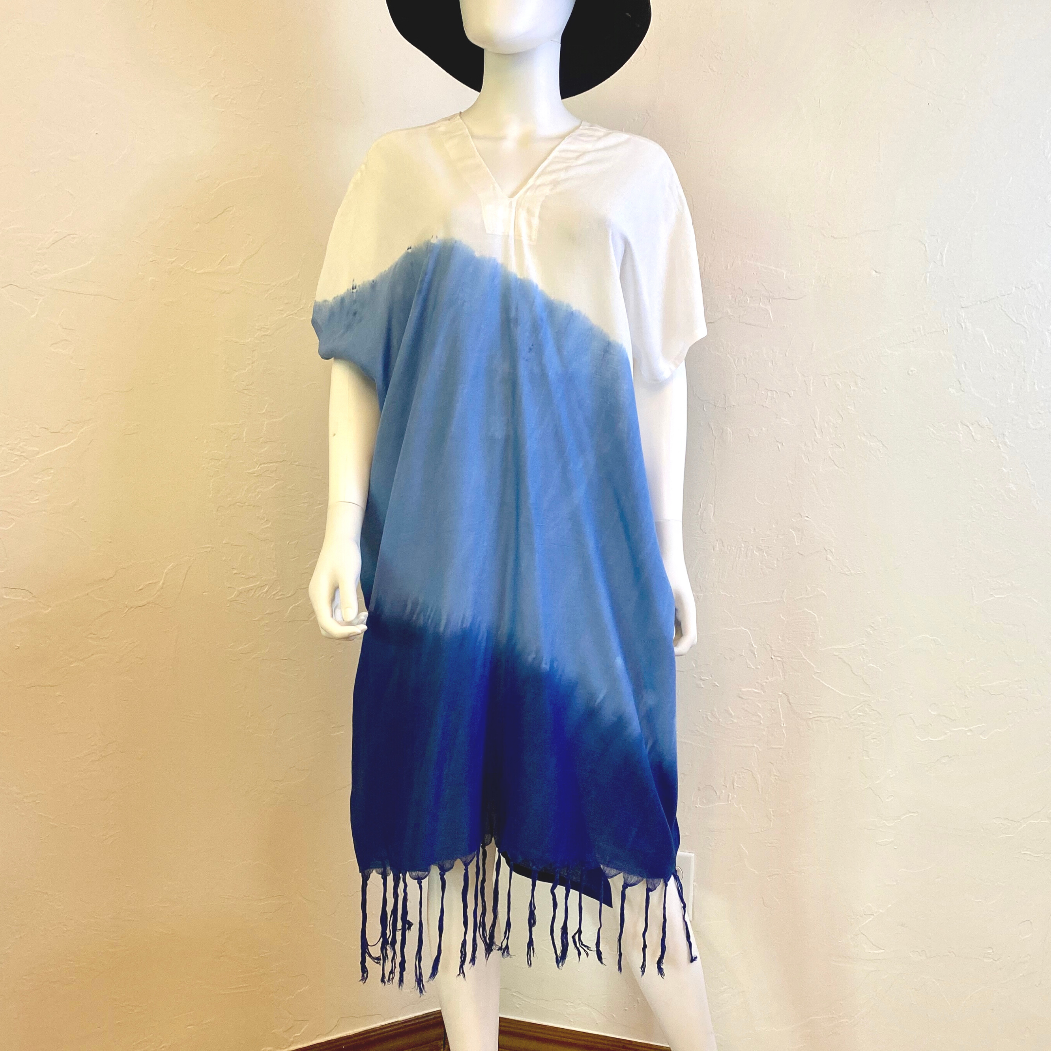 Plus Size Short Sleeve Loose Tie Dye Dress