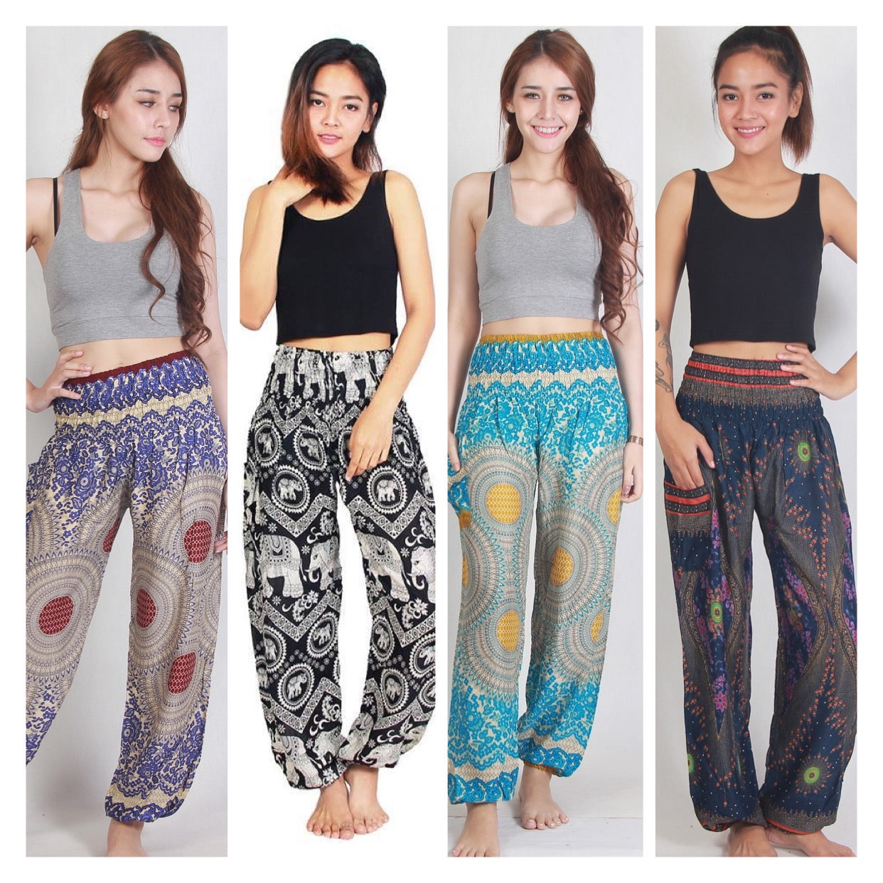 Boho-Chic Harem Yoga Pants