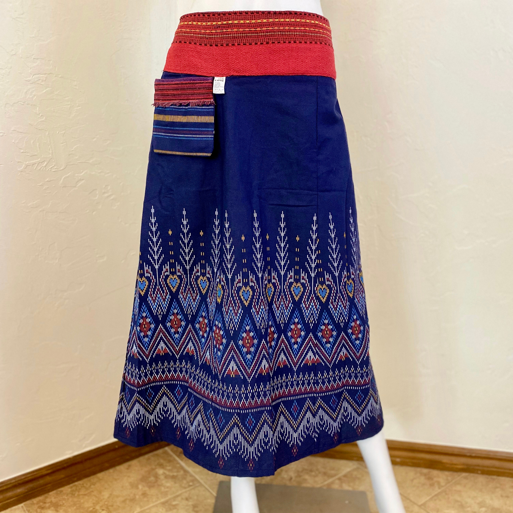 Thai Traditional Pattern Style Skirt