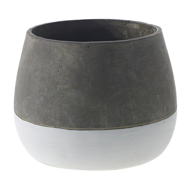 Grey + White Pot