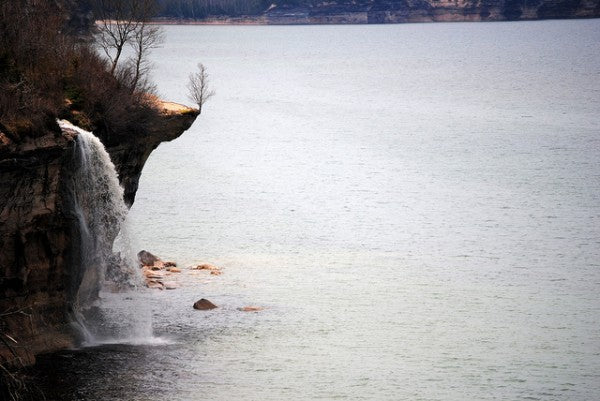 Spray Falls on Lake Superior in Pictured Rocks National Lakeshore