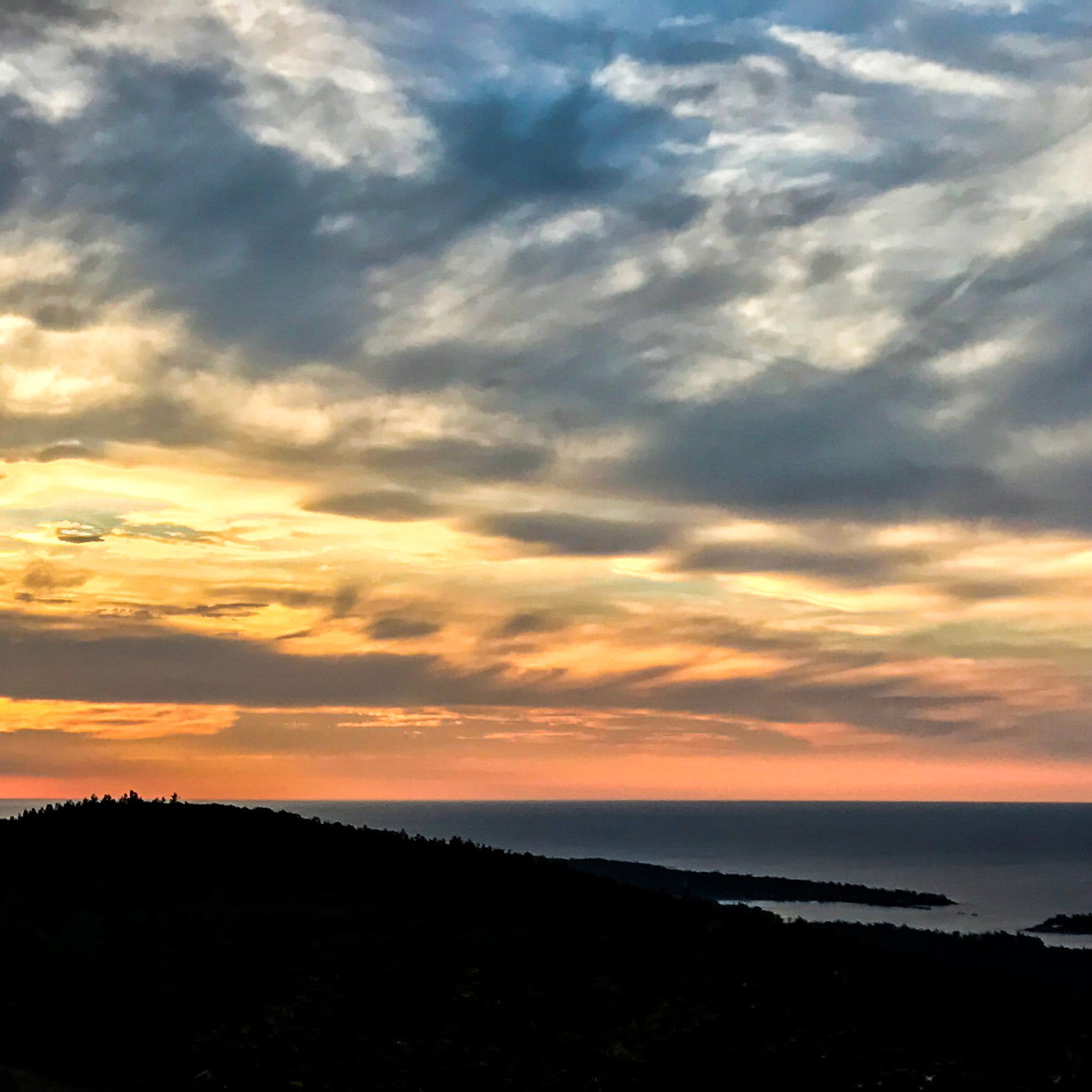 Sunset from Mt. Baldy in the Keweenaw Peninsula