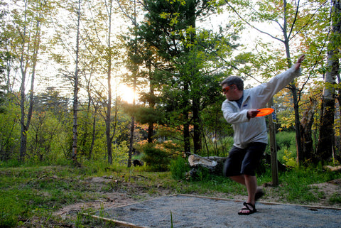 Bill Thompson Looking good throwing a disc golf disc