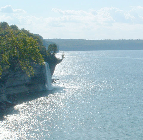 Spray Falls in Pictured Rocks National Lakeshore