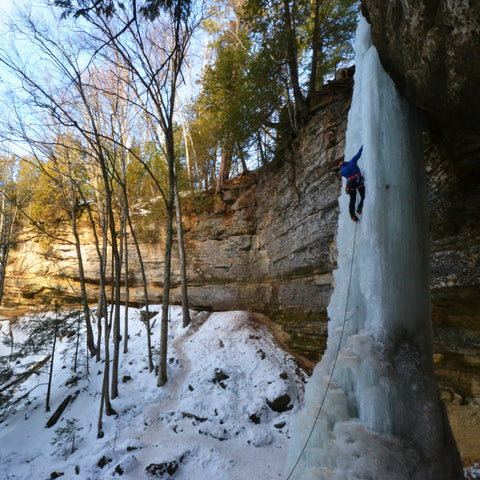A guided climb is a great way to experience ice climbing in Pictured Rocks National Lakeshore