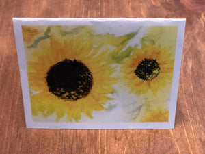 Sunflower Card 5 Pack