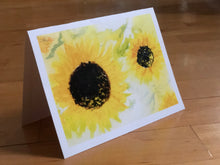 Load image into Gallery viewer, Sunflower Card 5 Pack