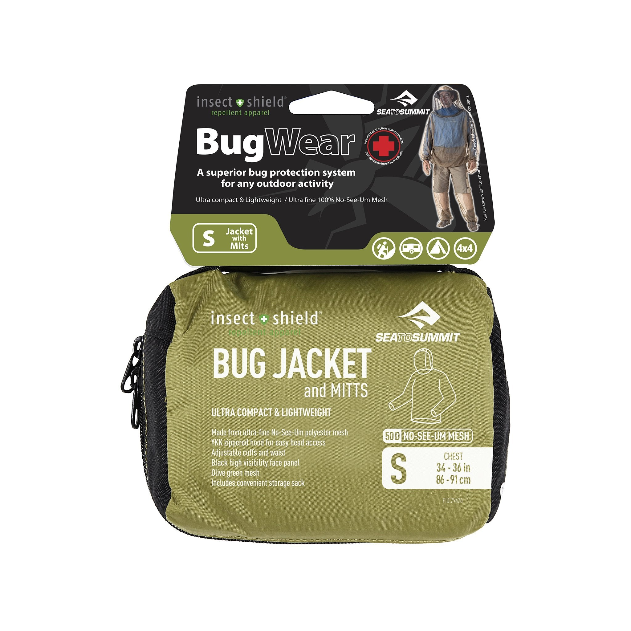 Sea To Summit Bug Jacket & Mitts +Insect Shield