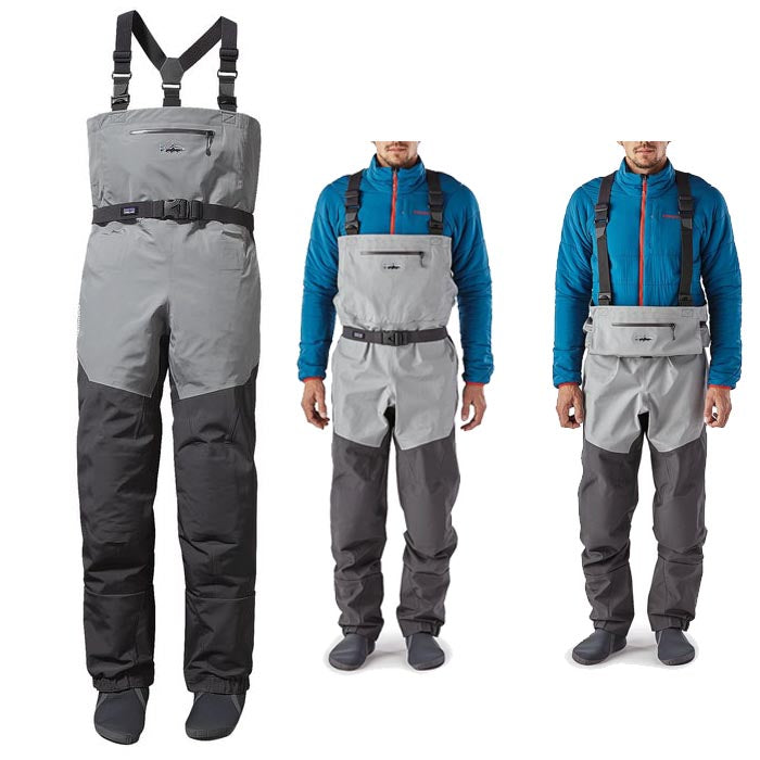 Patagonia Rio Gallegos Zip Front Waders Forge Grey Large