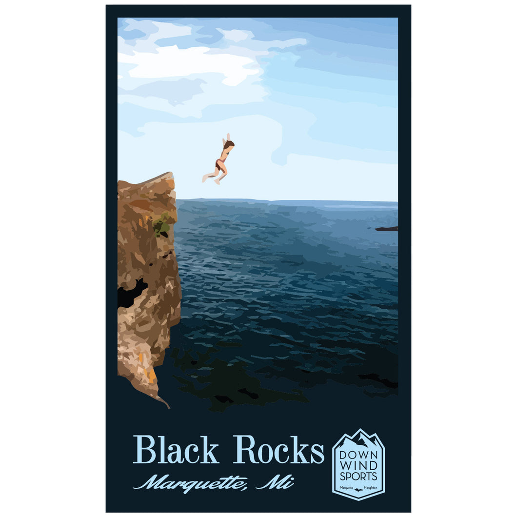 Black Rocks Sticker