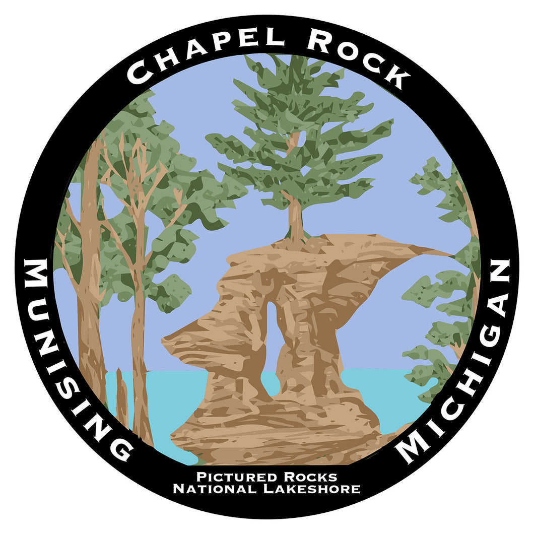 Chapel Rock Circle Sticker