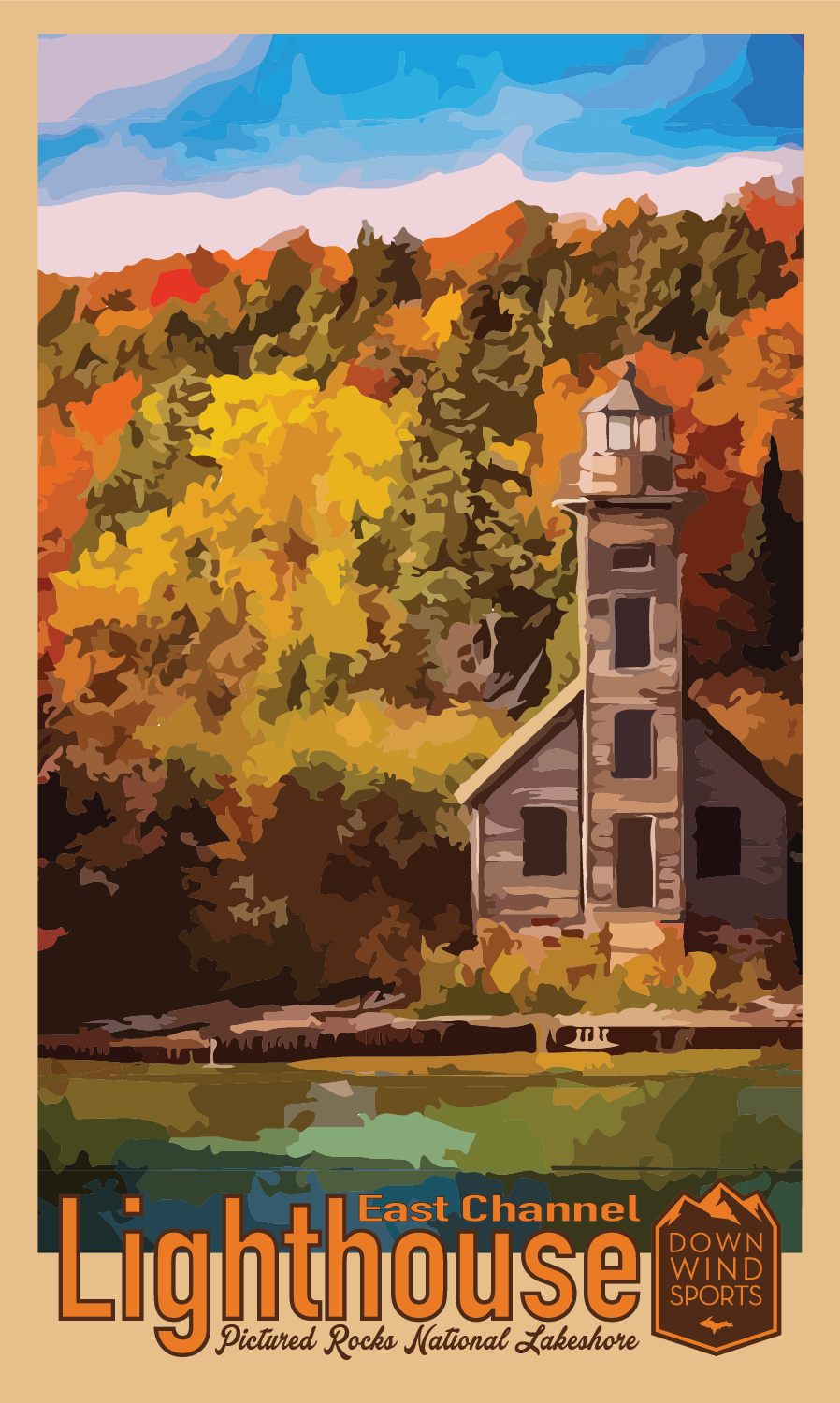 East Channel Lighthouse Sticker