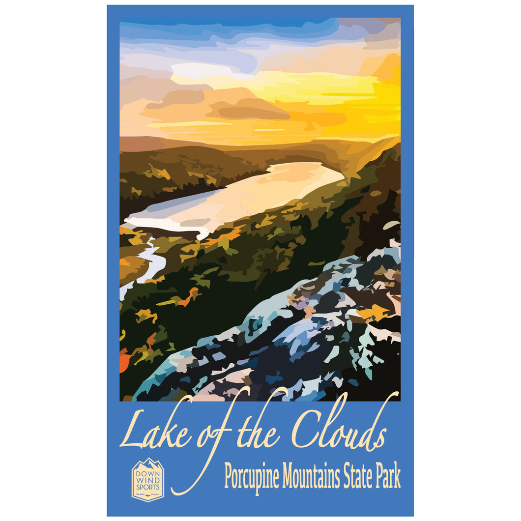 Lake of the Clouds Sticker