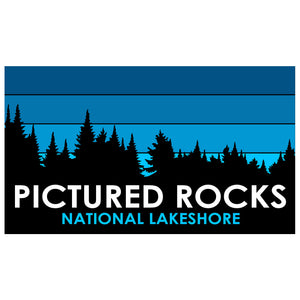 Pictured Rocks Trees Sticker