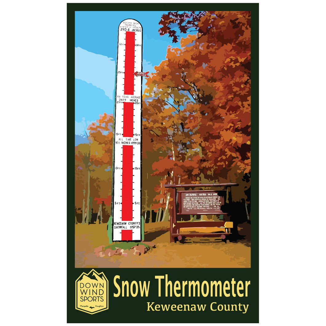 Snow Thermometer Sticker