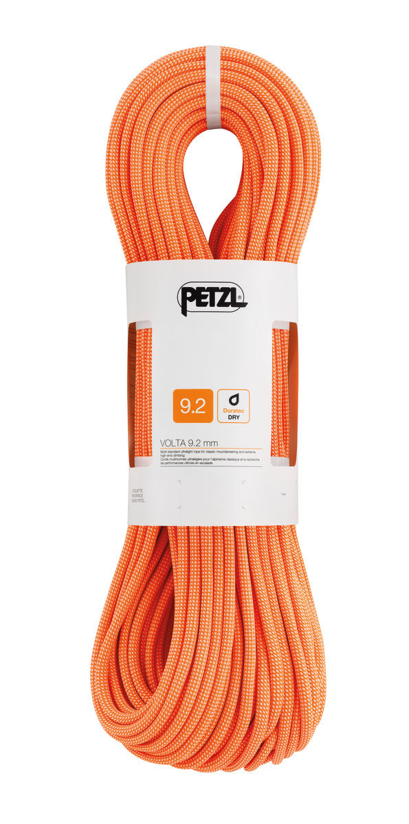 Petzl Volta Dry Rope, 9.2mm x 70m, Orange